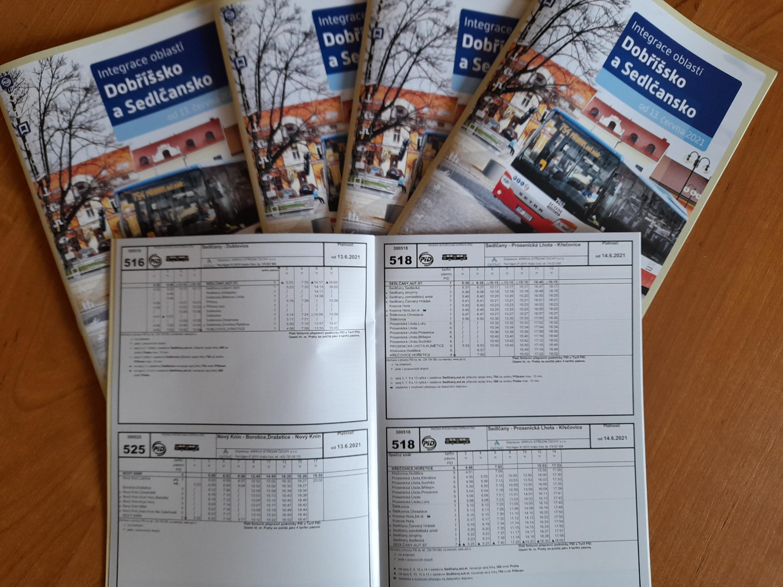 Brožura zdarma s jízdními řády Pražské integrované dopravy - Sedlčansko a Dobříšsko
